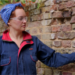 Learn to repoint with lime mortar